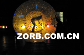 Zorb ball in the night