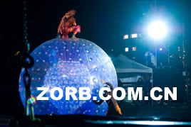 Zorb ball On the stage