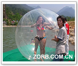 The water ball is used in vacation village.