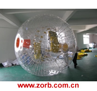Zorb ball is the sport of rolling down a hill inside a giant inflatable ball, Zorb globe, Giant Inflatable Human Hamster Ball