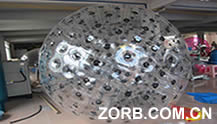 Black Color dot Zorb Ball