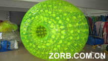 Bright green Zorb Ball
